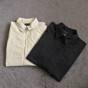 Claiborne Collared Zip up Men's T-shirt Bundle